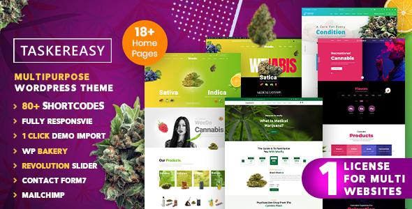 Taskereasy - Cannabis Multipurpose Business WordPress Theme
