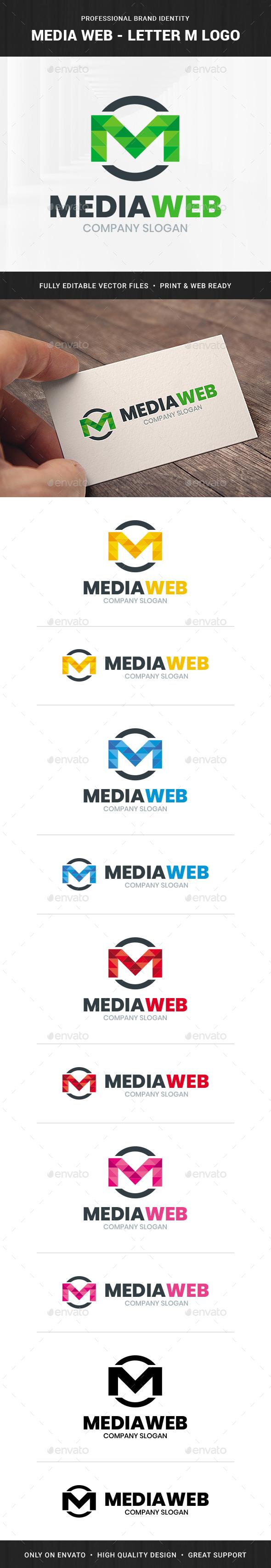 Media Web - Letter M Logo Template