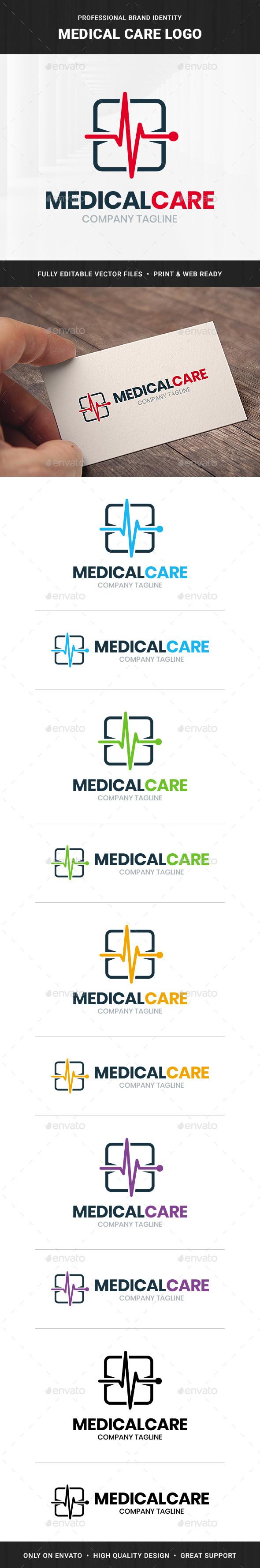 Medical Care Logo Template