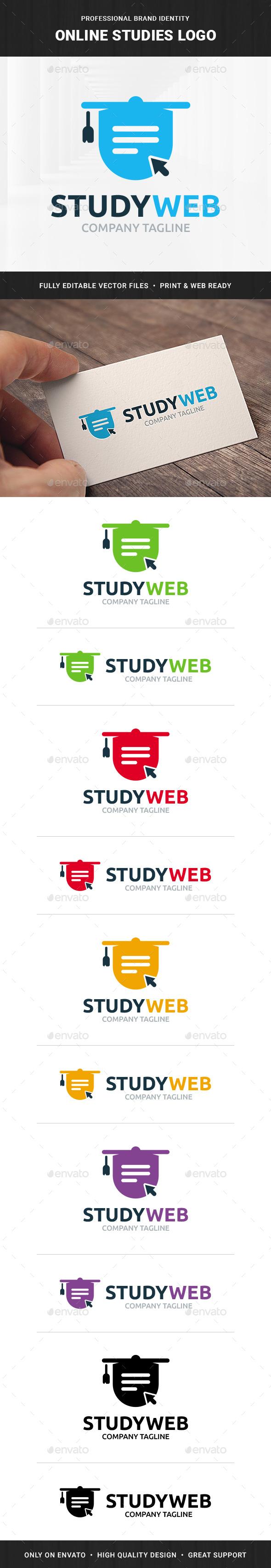 Online Studies Logo Template