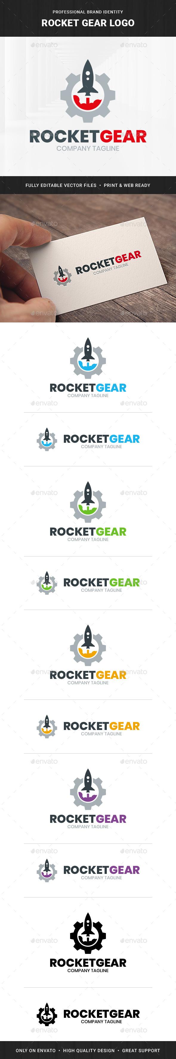 Rocket Gear Logo Template v2