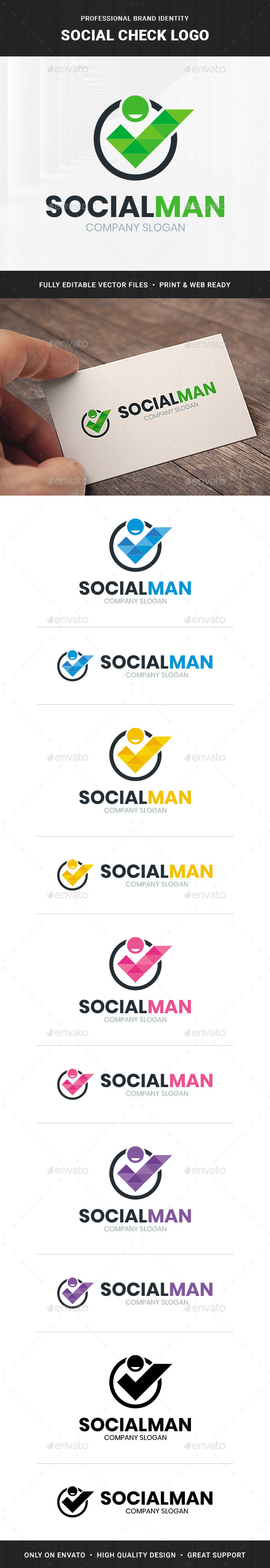 Social Check Logo Template