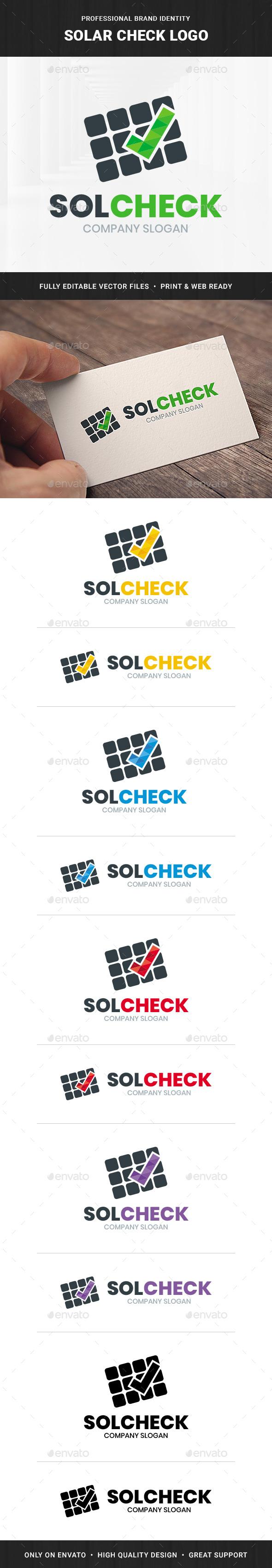 Solar Check Logo Template