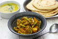 Sengri aloo ki sabzi, simmered radish pods & potatoes with spices, indian cuisine - PhotoDune Item for Sale