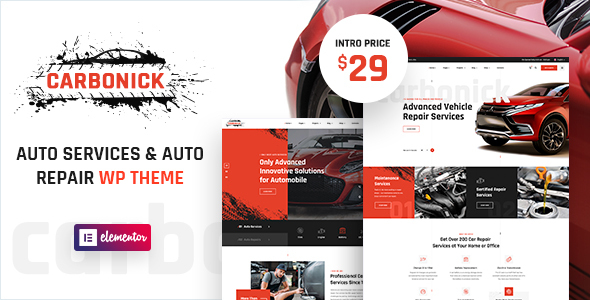 Carbonick – Auto Services & Repair WordPress Theme Preview
