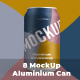 8 Mockup Aluminium Can 330 ml With Water Drops - GraphicRiver Item for Sale