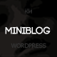 Miniblog - Multipurpose, Minimal WordPress Theme - ThemeForest Item for Sale