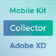 Collector – Mobile Wireframe UI Kit for AdobeXD - ThemeForest Item for Sale