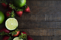 Fresh Lime and Strawberry Flat Lay - PhotoDune Item for Sale