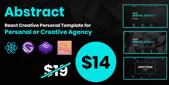 Abstract - React Creative Agency Personal Portfolio/Landing Template