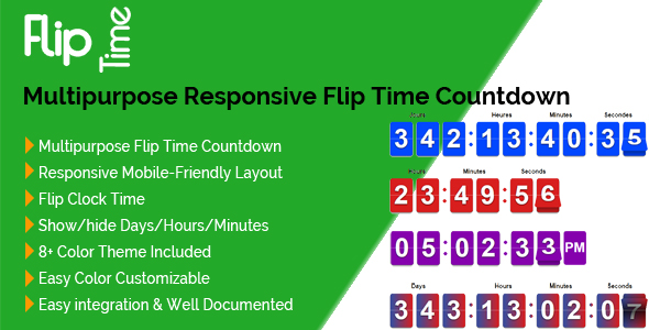 Flip Time - Multipurpose Responsive Flip Time Countdown