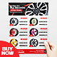 Car Wheel Product Flyer - GraphicRiver Item for Sale