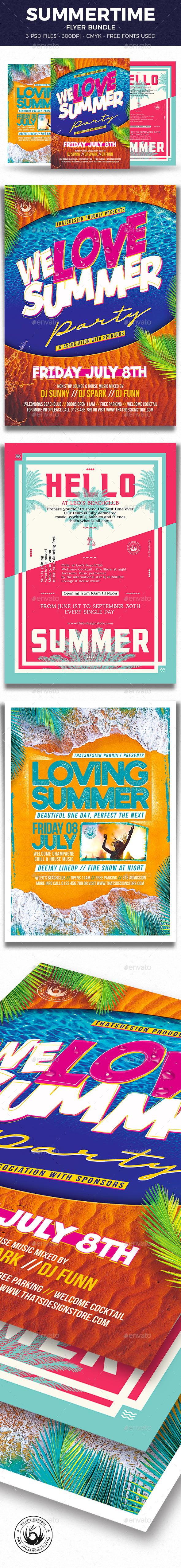 Summertime Flyer Bundle V3