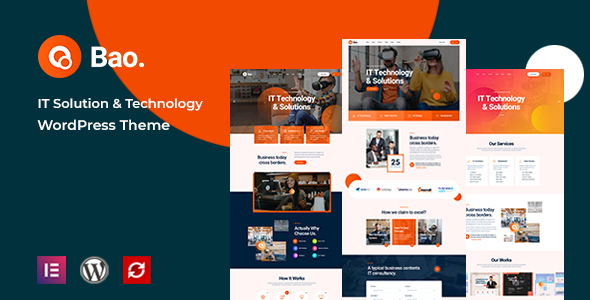 Bao – IT Solutions & Services WordPress Theme Preview