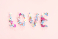 Word Love Made of Fresh Flowers - PhotoDune Item for Sale