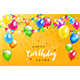 Happy Birthday with Colorful Balloons and Pennants - GraphicRiver Item for Sale