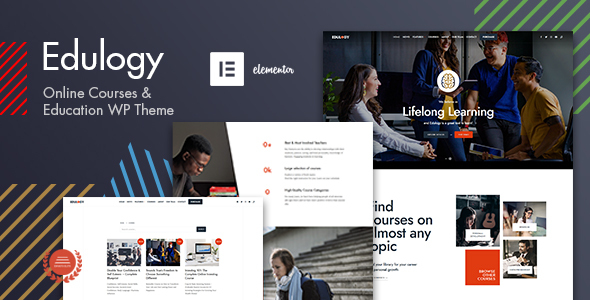 Edulogy – E-learning and Courses Theme Preview