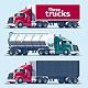 Three Heavy Trucks - GraphicRiver Item for Sale