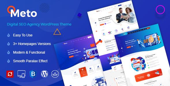 Meto   SEO & Marketing WordPress Theme Preview