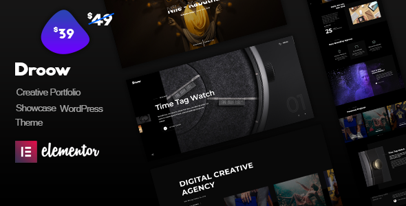 Droow - Ajax Portfolio WordPress Theme