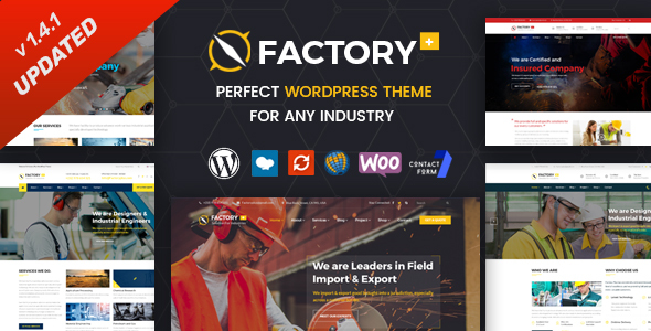 Factory Plus - Industry and Construction WordPress Theme