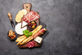 Cheese, meat and olives antipasto - PhotoDune Item for Sale
