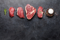 Variety of fresh raw beef steaks - PhotoDune Item for Sale