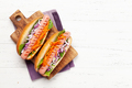 Hot dog with vegetables and lettuce - PhotoDune Item for Sale