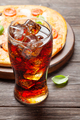 Tasty homemade pizza with cola drink - PhotoDune Item for Sale