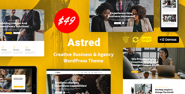 Astred – Modern Multi-Purpose WordPress Theme Preview