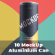 10 Mockup Aluminium Can 250 ml With Water Drops - GraphicRiver Item for Sale