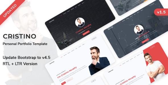 Download Cristino – Personal Portfolio, CV & Resume Template Nulled