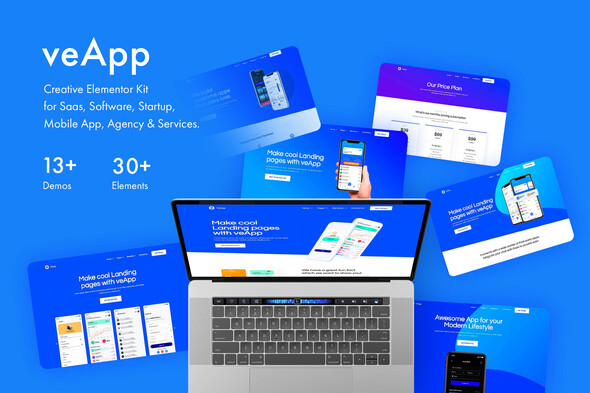 veApp - Mobile Startup Template Kit