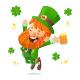 Happy St. Patrick's Day Leprechaun - GraphicRiver Item for Sale