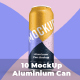 10 Mockup Aluminium Can 500 ml With Water Drops - GraphicRiver Item for Sale