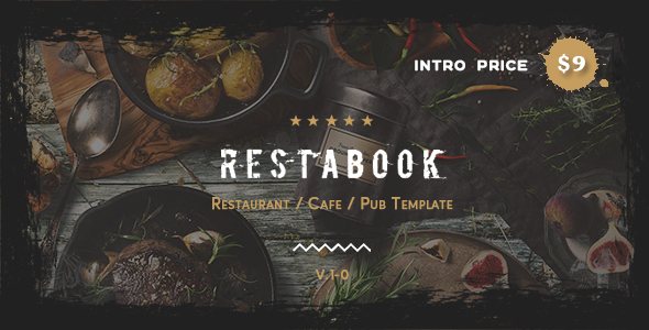 Restabook - Restaurant / Cafe / Pub Template
