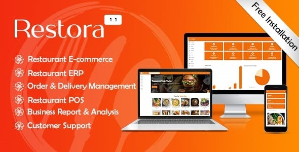 Restora - Restaurant Management System + Restaurant E-commerce + POS