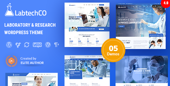 LabtechCO | Laboratory & Science Research WordPress Theme