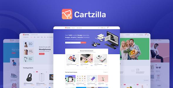 Cartzilla – Digital Marketplace & Grocery Store WordPress Theme Preview