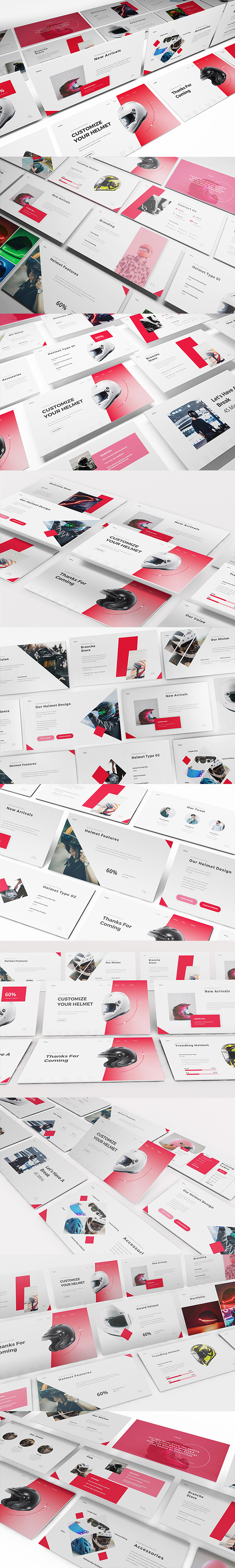 Helmet Shop Powerpoint Template