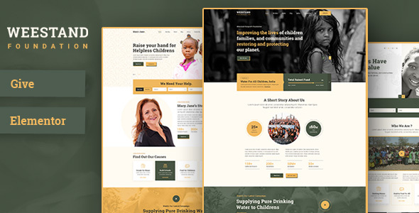 Weestand – Nonprofit, Charity, NGO Fundraising WordPress Theme