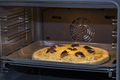 Baking quattro formaggi pizza in oven with open door - PhotoDune Item for Sale