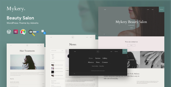 Photo of Mykery – Beauty Salon WordPress Theme Full Download
