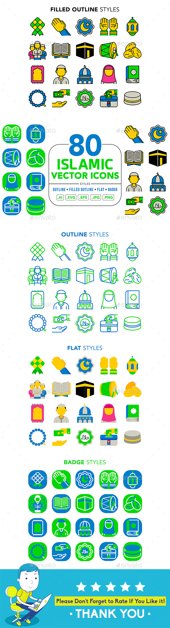 Islamic Vector Icons