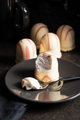 Sweet foam dessert. Marshmallow covered with strawberry icing. - PhotoDune Item for Sale