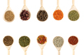 Collection of Spices in Wooden Spoons - PhotoDune Item for Sale