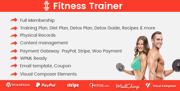 Fitness Trainer- Training Membership Plugin