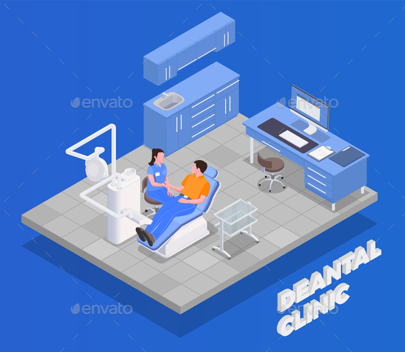 Dental Clinic Isometric Concept