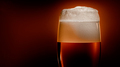 Lager beer settles in the glass with a white cap of foam - PhotoDune Item for Sale