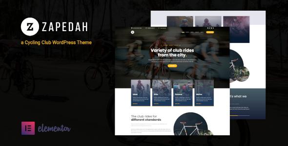 Zapedah – Cycling Club WordPress Theme Preview